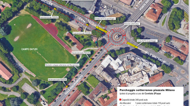 Progetto Parcheggio Piazzale Milano