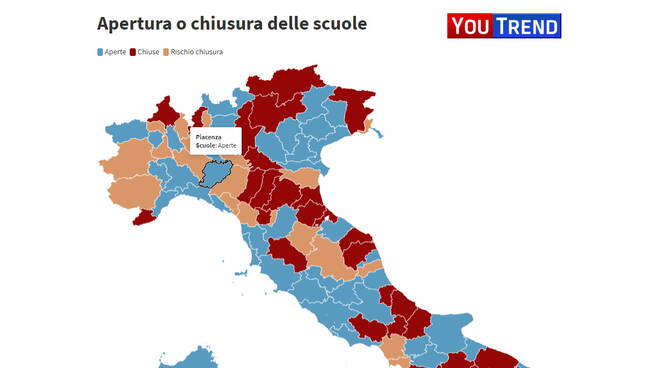 province rischio Youtrend Mappa