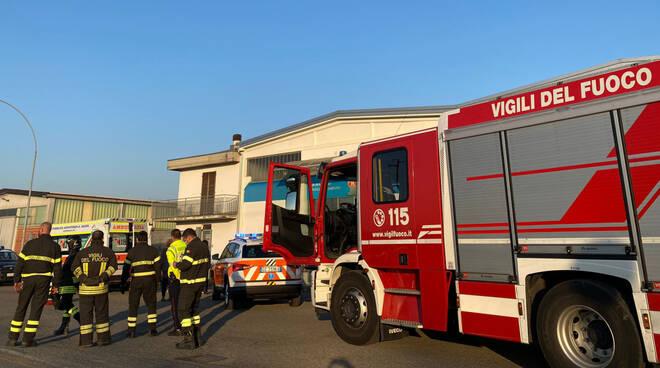 Soccorsi 118 e vigili del fuoco a Rivergaro