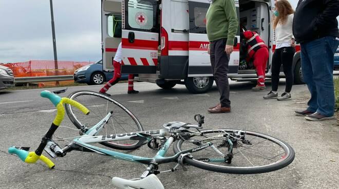 ciclista urtato Pittolo