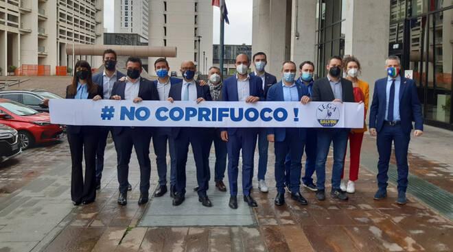 Flash mob Lega coprifuoco
