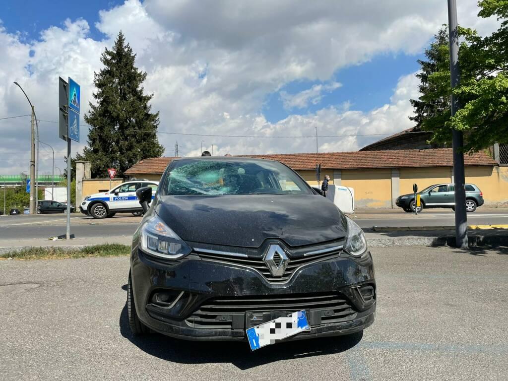 incidente viale S. Ambrogio polizia locale