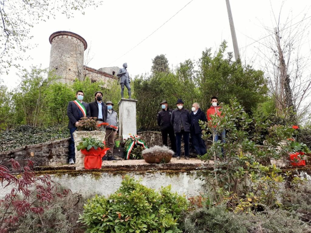 L'omaggio ai cippi partigiani a Monticello e a Gazzola