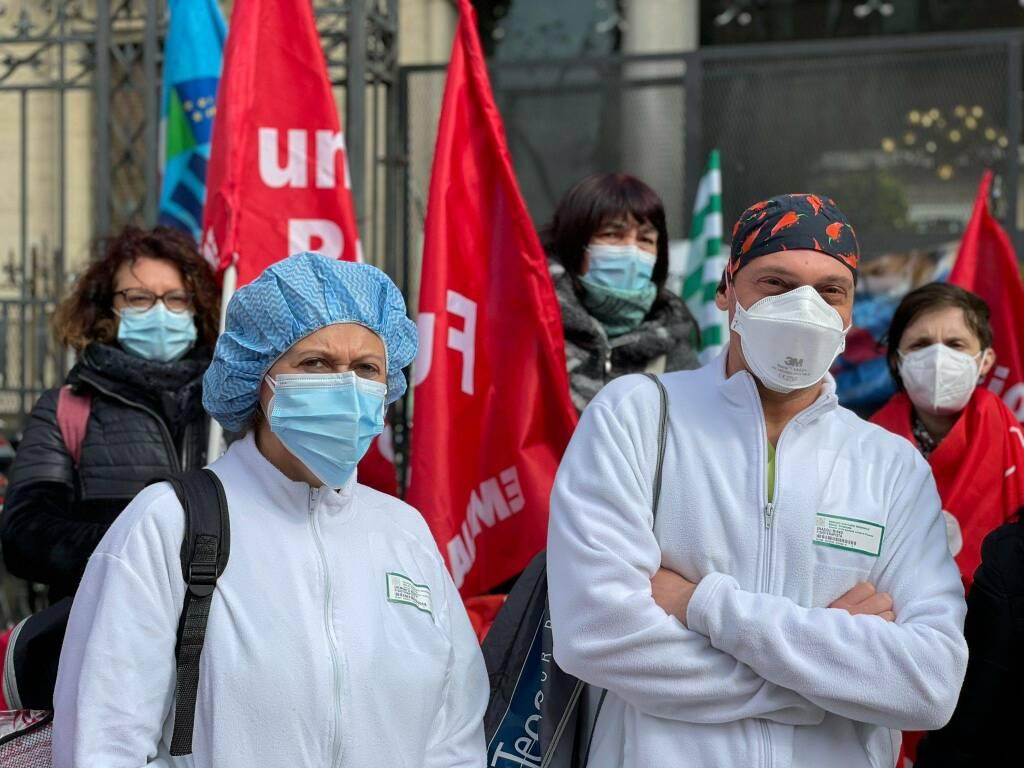 Mobilitazione sindacati sanità pubblica