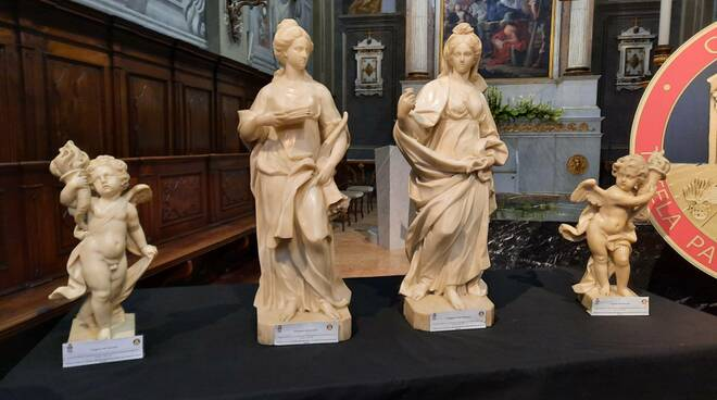Nella chiesa di San Lazzaro le 4 statue trafugate