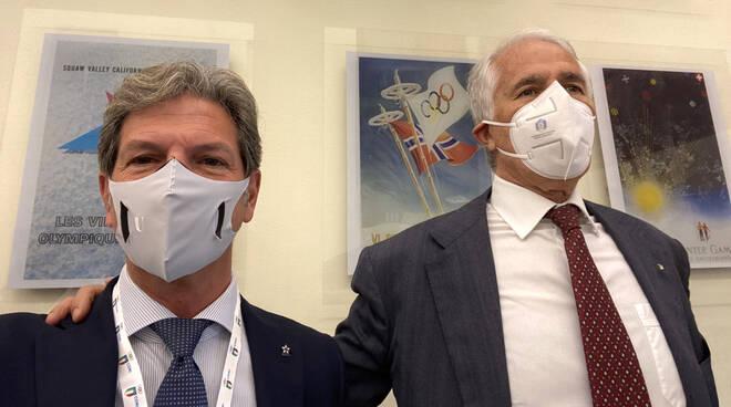 Robert Gionelli con il Presidente CONI Giovanni Malagò