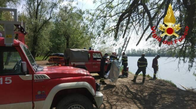 Vigili del fuoco a Caselle Landi