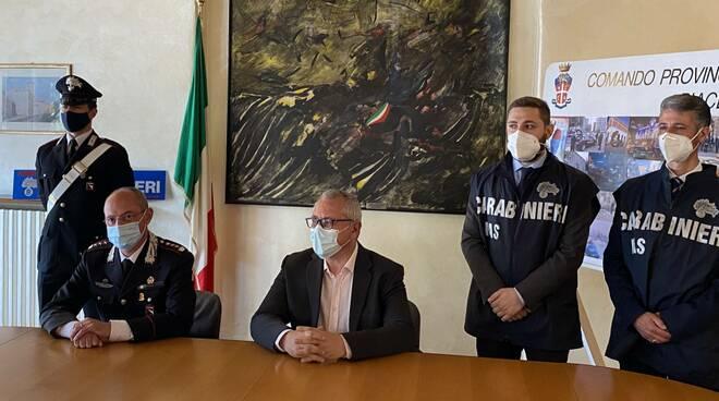 Conferenza stampa dei carabinieri