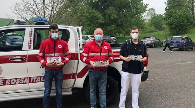 Croce Rossa Rivergaro donazione gel mani