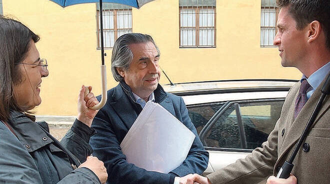 Il Maestro Muti con l'assessore Papamarenghi