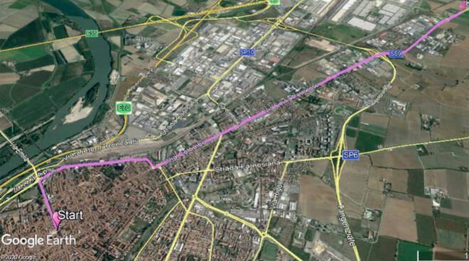 Mappa giro d'Italia viabilità