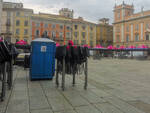 Preparativi giro d'Italia in piazza Cavalli