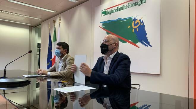 Assessore Mammi e presidente Bonaccini