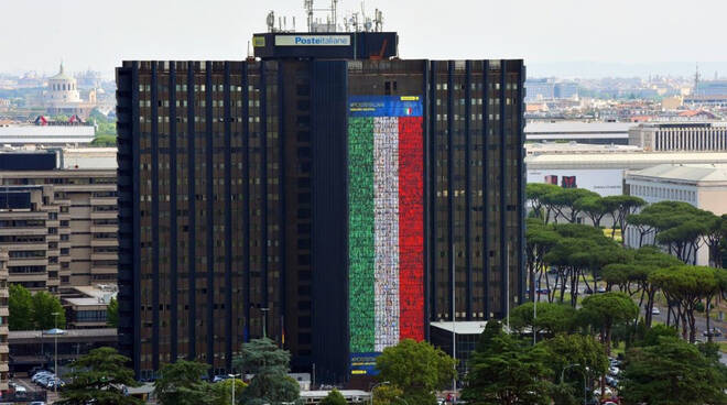 Bandiera italiana Poste
