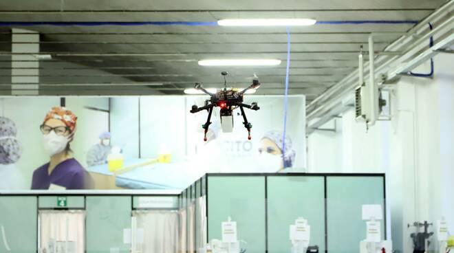 drone disinfezione hub vaccinale