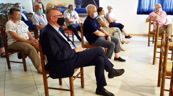Il vescovo Cevolotto nella sede di Africa Mission