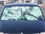 Auto danneggiata in autostrada