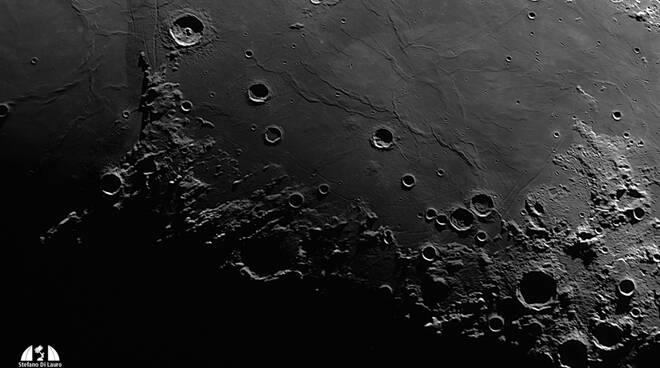 Il Mare della Tranquillità, luogo di atterraggio di Apollo11 (foto di Stefano Di Lauro)