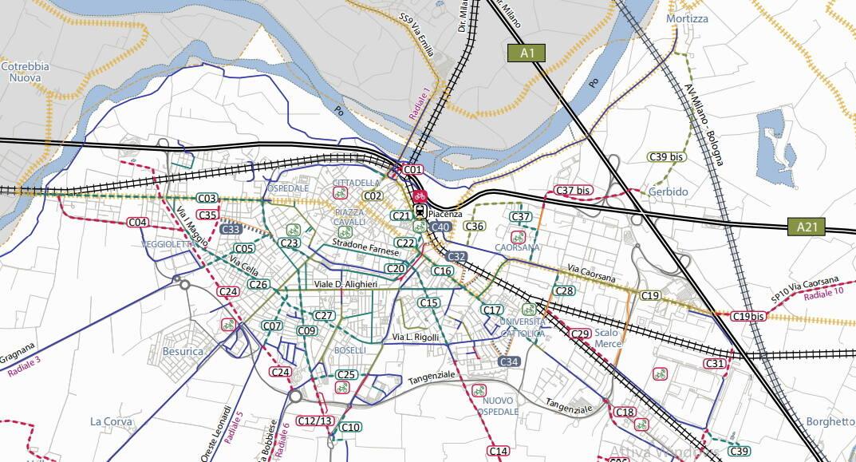 mappa ciclabili