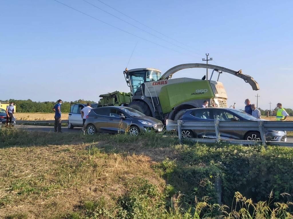 incidente mezzo agricolo Muradolo
