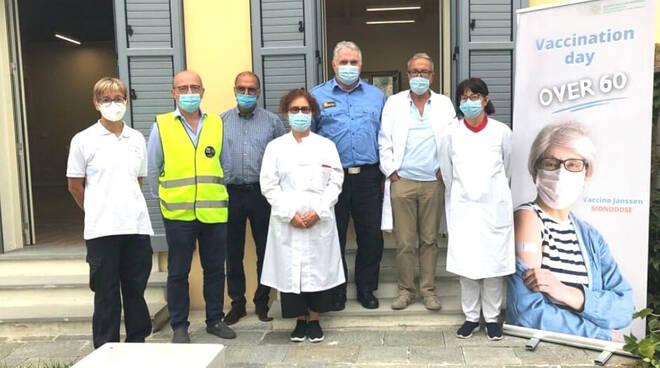 Open day vaccinale a Marsaglia (foto Ausl)