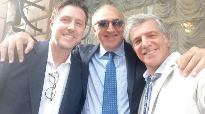 Chiaravalloti, con il segretario generale Tiani e il sottosegretario all'interno Molteni
