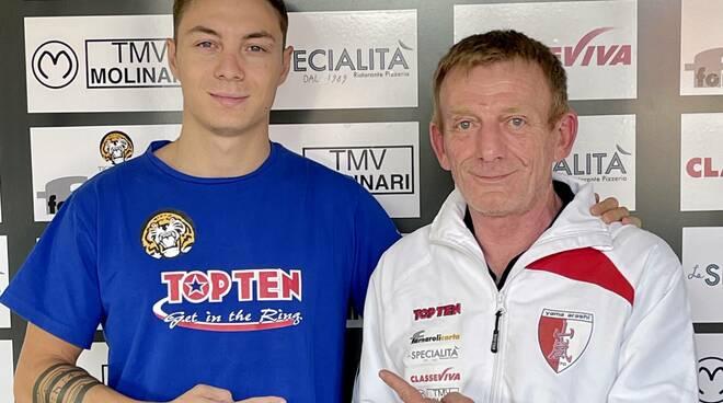 Davide Colla con il maestro Gianfranco Rizzi