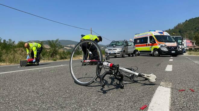 incidente ciclista a Biana