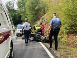 incidente moto valdaveto