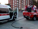 L'intervento dei soccorsi in piazzale Marconi