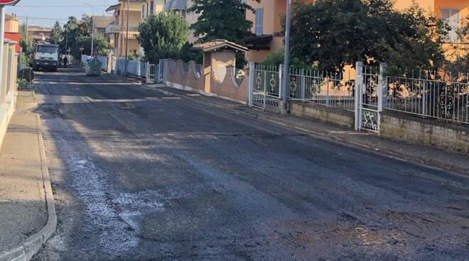 Lavori manutenzione strade Borgonovo