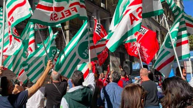 Manifestazione Roma lavoratori ex interinali