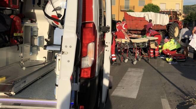 Soccorsi Croce Rossa a Pianello