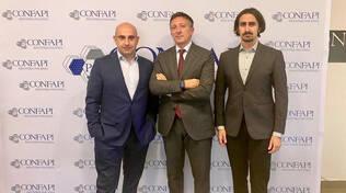 Da sinistra Giuseppe Ballotta, Andrea Paparo e Gianmaria Vianova