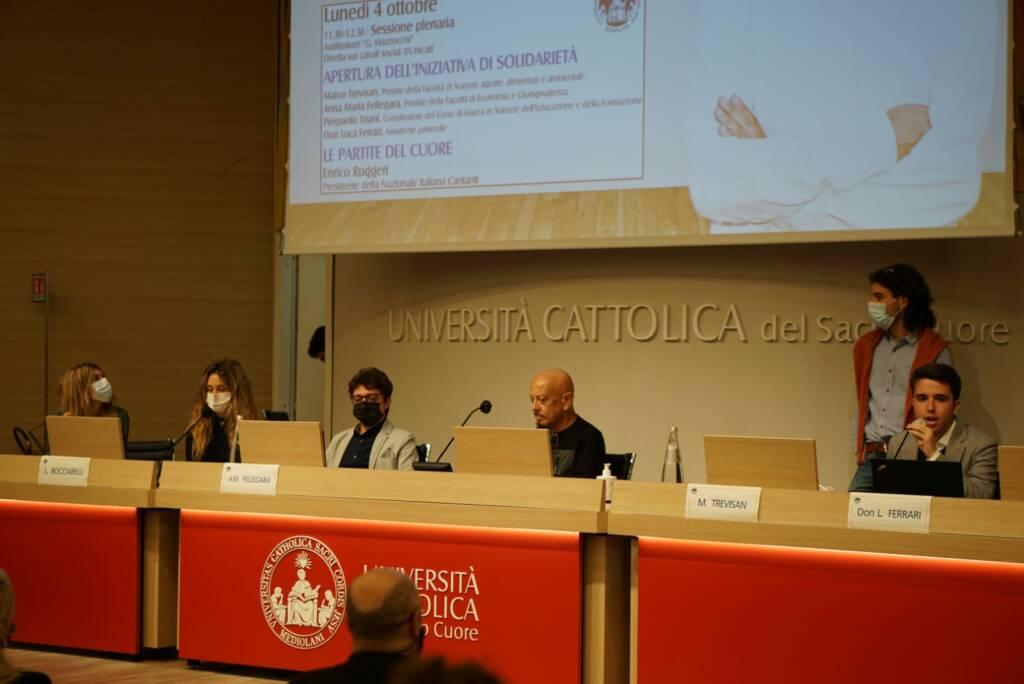 Enrico Ruggeri ospite all'Università Cattolica di Piacenza