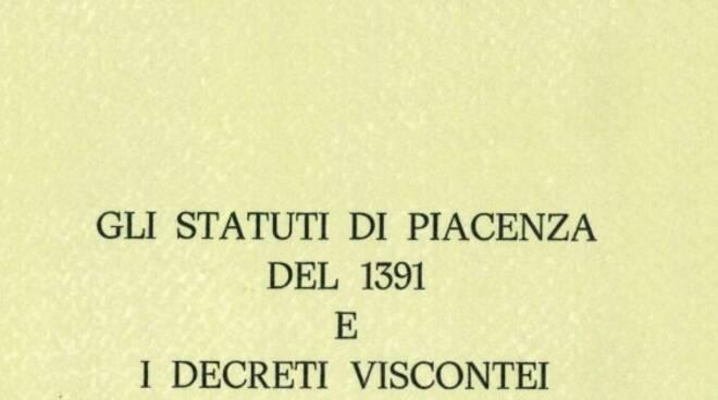 Gli Statuti di Piacenza del 1391 e i Decreti viscontei copertina