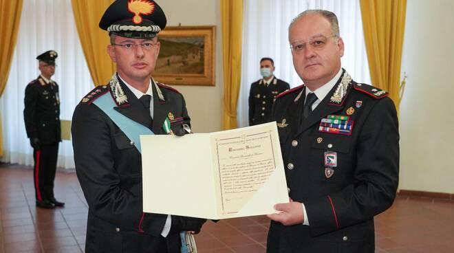 Il premiato comandante Abrate