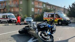 incidente moto via Caduti