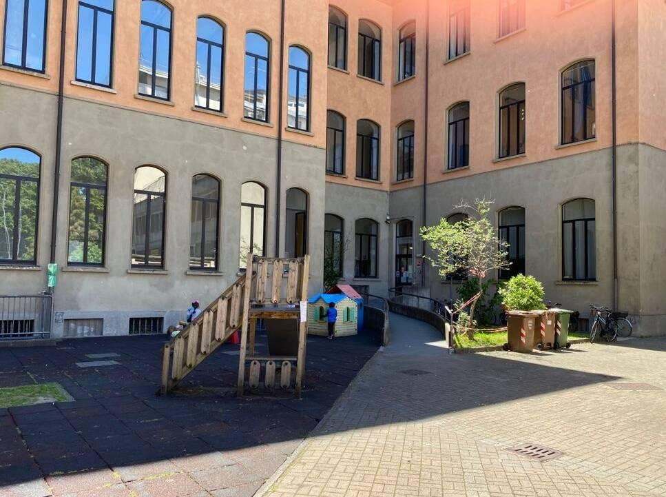scuola Mazzini cortile