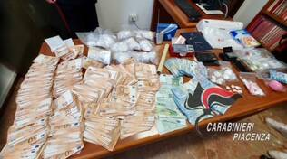 sequestro cocaina Fiorenzuola carabinieri